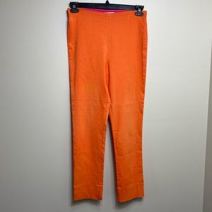 Gretchen Scott orange pull on pants